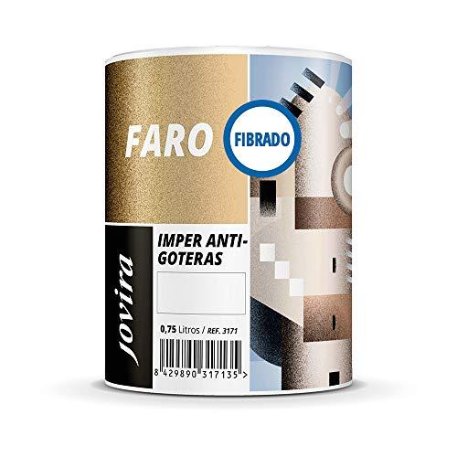 ANTIGOTERAS ELASTICA FIBRADO, Pintura elástica con fibra para terrazas, evita filtraciones en todo tipo de cubiertas y terrazas. (750 ml, ROJO)