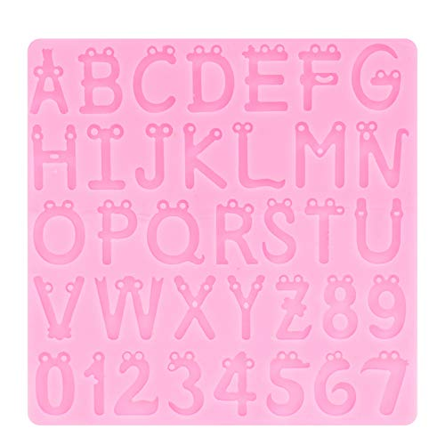 SHYEKYO Molde de Bricolaje, patrón de números de Silicona Fondant fácil de Limpiar para Cupcakes para Pendientes para llaveros