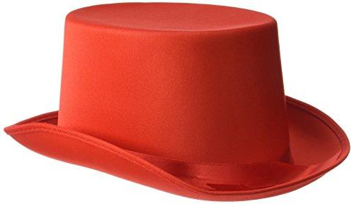 Rire Et Confetti - Fiedis069 - Accessoire pour Déguisement - Chapeau Haut De Forme Rouge