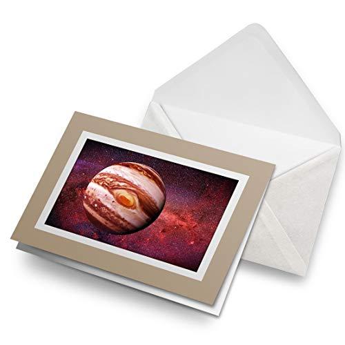 Awesome Greeting Cards - Tarjeta de felicitación en blanco con diseño de planeta Júpiter con sistema solar, tarjeta de felicitación de cumpleaños para niños y niñas #15898