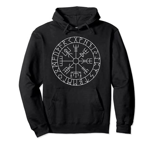 Celtic Lucky Charm Viking Compass Vegvisir Vegvísir Pullover Hoodie