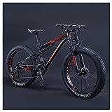 QMMD 26-Inch Mountain Trail Bike, 21-27-30 Speed Mountain Bikes, Adult Full Suspension All Terrain Mountain Bike, Adjustable Seat Men's Bike,4 Black,27 Speed