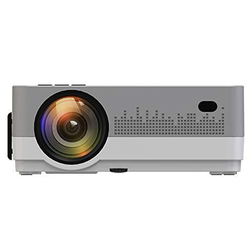BORSSO® Moon 7.1 HD Wi-Fi YouTube, LED Projector 3000 Lumens, HDMI USB VGA AV, HD 720p, Silver