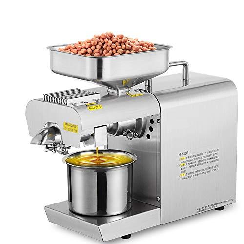 CGOLDENWALL Ölpresse aus Edelstahl für Nüsse, Samen, Ölpresse, automatisch, intelligent, warmes und kaltes Leinöl-Expeller für Erdnüsse, Samen, Kokosnuss und andere Ölkulturen - 220V