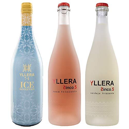 Estuche Yllera Frizzantes (1 botella Yllera 5.5. Verdejo Frizzante + 1 botella Yllera Rosé Frizzante + 1 botella Yllera Ice Revolution)