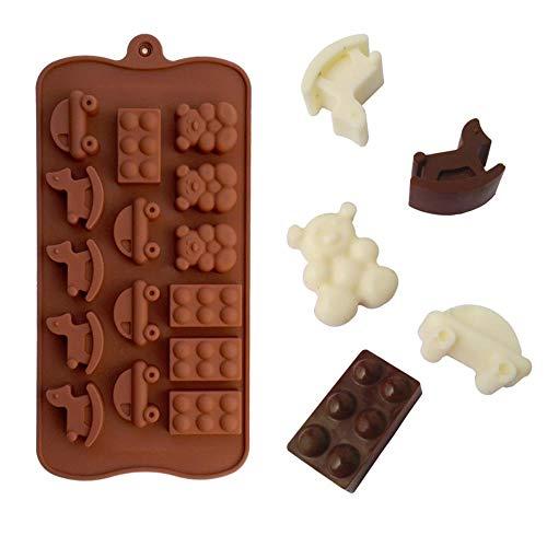 FORHOME Troje Paard Auto Beer Schoenen Vorm Muffin Zoete Snoep Gelei Fondant Cake Chocolade Vorm Siliconen Gereedschap IJsvorm DIY bakken