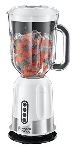 Russell Hobbs EasyPrep Glas-Standmixer (platzsparende Verstaumöglichkeit, 1.1 PS-Motor, 1.7l, 2 Geschwindigkeitsstufen, 850 Watt, 22990-56) weiß