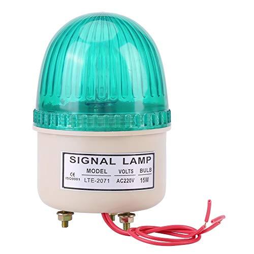 BigBig Style LED-Warnlicht Blitzlicht-Warnlampe Industriemaschinen-Kit AC 220V 15W (Color : Green)
