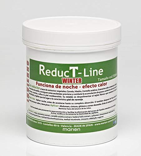 Anticelulítico Reductor Reductline WINTER Efecto Calor xxl - 500 ml, a base de Extractos Vegetales; Canela, Centella Asiática, Hiedra, Guaranina, Nicotináto de Metilo . Todo Tipo de Piel.