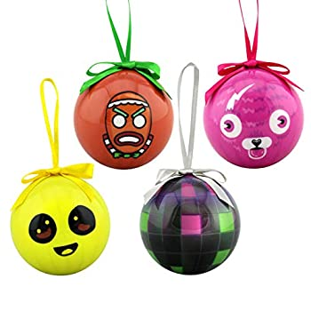 Epic Games Fortnite Holiday Ornaments Set of 4 - Collection 2  Boogie Bomb Cuddle Team Leader Peely Merry Marauder