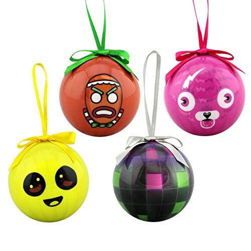 Epic Games Fortnite Holiday Ornaments Set of 4 - Collection 2 (Boogie Bomb, Cuddle Team Leader, Peely, Merry Marauder)
