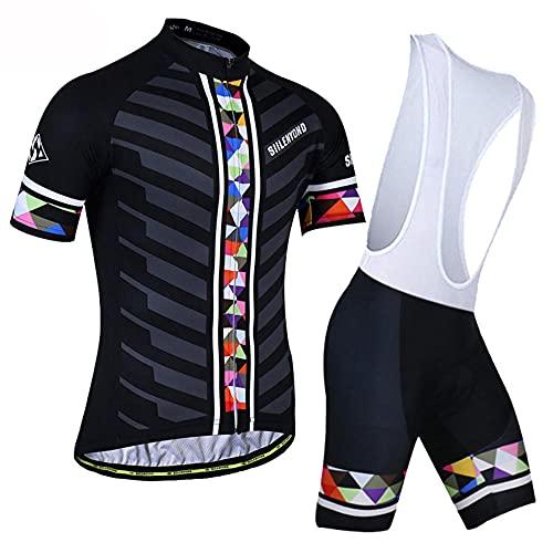 HXTSWGS Jersey de Ciclismo Transpirable para Hombre, Ropa de Bicicleta de Manga Corta, Camiseta de MTB Superior para Bicicleta, Transpirable Summer-A11_XL