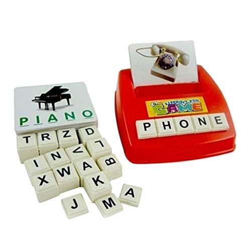 HomeDecTime Máquina de Letras del Alfabeto de Ortografía en Inglés Juguetes Educativos para Niños Niños