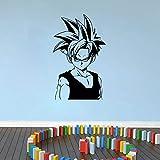 Tianpengyuanshuai Calcomanía de Pared de Tronco de Personaje de Anime japonés Dormitorio Sala de Adolescentes decoración de Ventilador de Anime Pegatina de Pared de Vinilo 42X68 cm