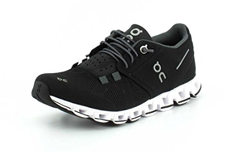 ON Running Womens Cloud Mesh Black White Trainers 9 US
