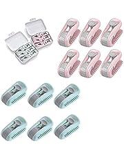 QWEWQE 6 stuks dekbedovertrekclips, hoge elasticiteit dekbedclips, naaldloze doorgestikte clip, antislip vaste quiltclip voor beddengoed, gordijnen, kleding gebruikt