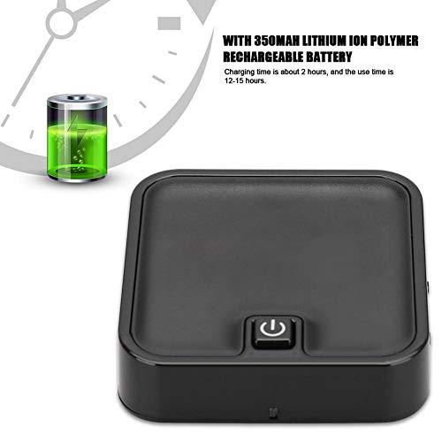 2-in-1 Bluetooth ontvanger & zender, Bluetooth 5.0 stereo ontvanger zender draadloze glasvezel adapter voor luidspreker (Dual Stream, ondersteunt APT-X, 350 mAh accu)