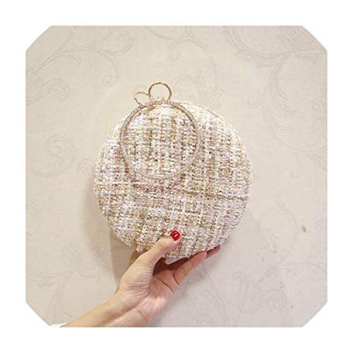 Las mujeres de lana de cadena circular novia boda Embragues del día...