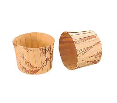 アズワン マフィンカップ 小麦柄(80枚入)M-109 φ65/61-6693-16