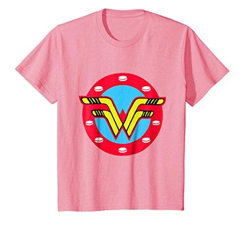 Kids Women's Ice Hockey - Sticks and Pucks Shirt - Girl Power 8 Pink