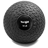 Yes4All 10 lbs Slam Ball for Strength and Crossfit Workout – Slam Medicine Ball (10 lbs, Black)