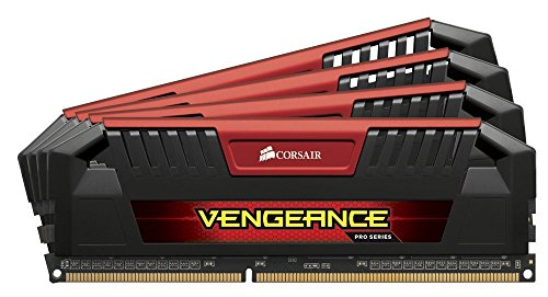 Corsair Vengeance Pro 32GB (4x8GB) DDR3 1600 MHz (PC3 12800) Desktop, Red 1.5V