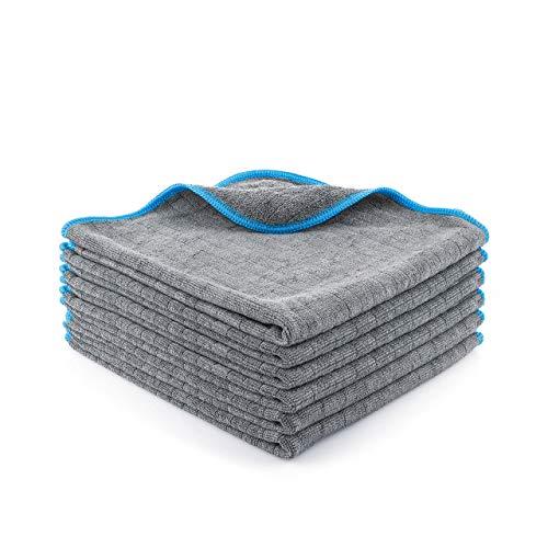 Lavandola Mikrofasertücher für Ihren Haushalt – extrem saugstark und schonend weich dank 380 GSM– fusselfreie Reinigungstücher für Haushalt, Küche und Bad – Microfasertuch - 6 Stück 40x40cm