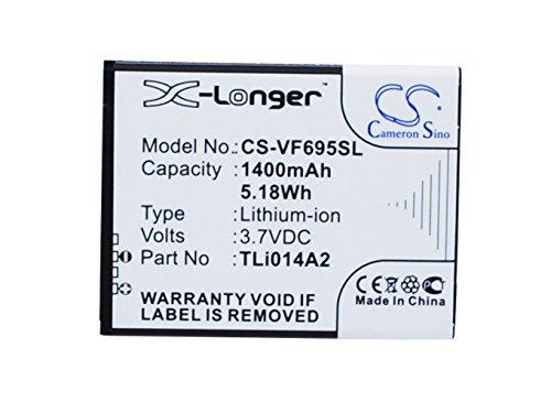 CS-VF695SL Batteria 1400mAh compatibile con [VODAFONE] 785 tipo, Smart 4 Mini, Smart First 6, Smart Mini, V695, VF-575, VF-695, VF-785, VF-V695, VF575, VF785 sostituisce TLi014A2