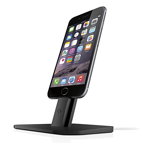 Twelve South HiRise for iPhone/iPad, Black   Adjustable Charging Stand, Requires Apple Lightning Cable