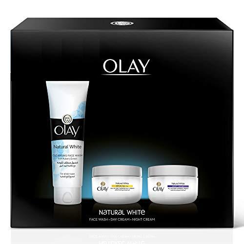 Olay Natural White Beauty Box: Face Wash 100 g + Day Cream SPF 24 50 g + Night Cream 50 g
