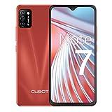 Cubot Note 7 Teléfono móvil, smartphone sin contrato, 4G Android 10 Go, pantalla HD de 5,5 pulgadas, cámara triple de 13 MP, batería de 3100 mAh, 2 GB/16 GB, 128 GB ampliable, SIM Daul (rojo)