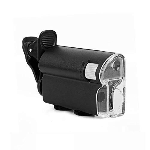 Vergrootglas lezen Ultra-heldere Vergrootglas met LED Light ter verbetering van Clear Lens Foto's, geschikt for mobiele telefoons, sieraden identificatie van Magnifier, Black 110 * 45mm op Bekijk kaar