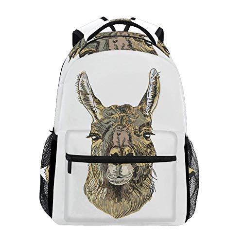 Bag Alpaca Andes Animal Shoulder Bag Lightweight Gift Casual Stylish School Backpack Printed Travel College Bookbag Student Durable Unique