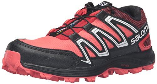 Salomon Women's Speedtrak W Trail Runner, Coral Punch/Black/Infrared, 8 D US