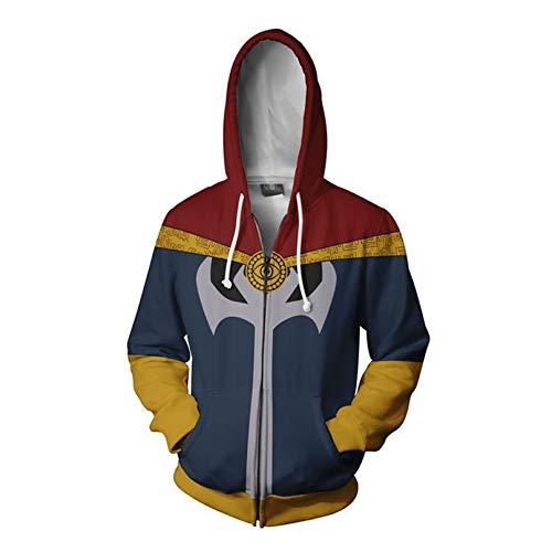 MODRYER Children Avengers 3D Hoodie Infinity War Pullover Doctor Strange Zipper Sweatshirt Jacket for Boy Girl Women Men Christmas Cosplay Costume,4XL