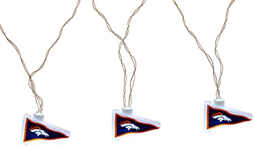 NFL Denver Broncos LED Pennant Party Lights