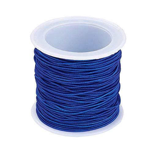 Sadingo Scoubidou - Pulseras de goma para niños, color azul oscuro, 20 metros, cordón azul de 1 mm, cadena fina