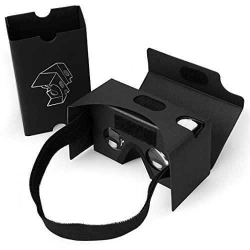 Google Cardboard DIY, SPLAKS 3D VR Gafas de Realidad Virtual V2 Gafas de Realidad Virtual Google Cardboard Kit de Bricolaje de hasta 6 Pulgadas