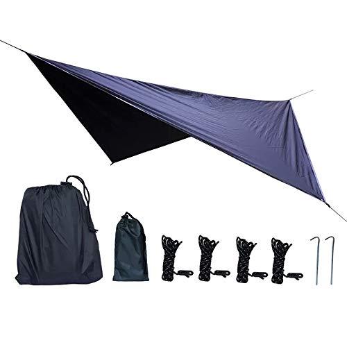 thematys Hamac d'extérieur avec moustiquaire - Tente hamac Robuste et Ultra-légère, Parfaite pour Le Camping, Le Plein air et la Survie (Bâche 1)