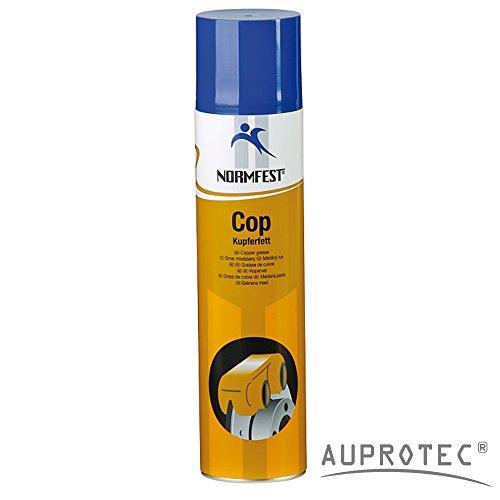 AUPROTEC Kupferspray Kupferfett Spray Cop Kupferpaste Schmierfett Kupfer Sprühfett 1x 400ml