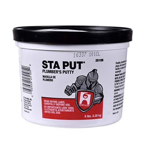 Oatey 25103 Plumbers Putty Hercules Sta Put, 3 Pound, 3-Pound