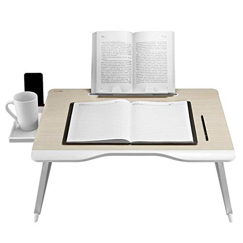 DGHJK Mesa de Centro para Muebles, portátil Plegable, Escritorio para computadora portátil, Bandeja para portátil, Mesa de Cama con cajón, 65 * 49 * 30 CM