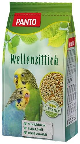 Panto Ziervogelfutter, Wellensittichfutter 1 kg, 5er Pack (5 x 1 kg)