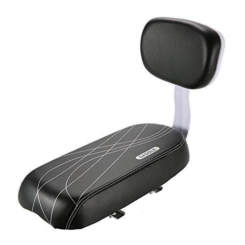 Siège arrière de vélo - siège sécurité pour enfant avec coussin doux et dossier