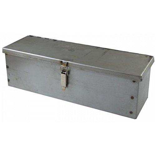 Caja de herramientas de chapa doblada y perforada en bruto 300 x 90 x 95 mm para tractores de Ama