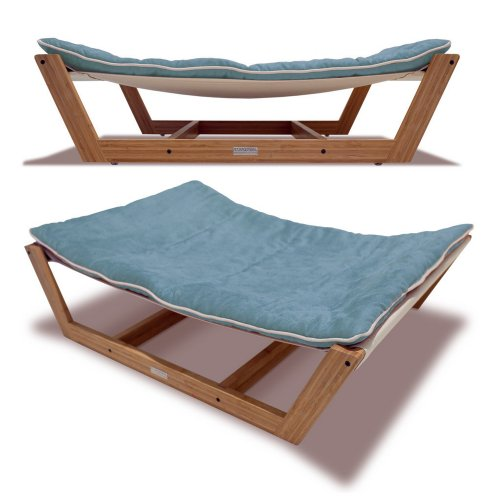 Bed Hammock Pet Bed, 35.5 by 26.25 by 9-Inch, Berry Blue