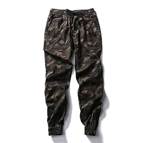 Loeay Vaqueros elásticos Ajustados para Hombre Pantalones de chándal Streetwear Camuflaje Militar Pantalones Sueltos de Bolsillo Grande de Hip Hop de Mezclilla de diseñador