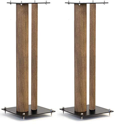 Norstone Lautsprecherständer Stylum, stabil aus Metall, bis 50kg belastbar, Paarpreis (Stylum 3 (80cm), Eiche (Dekor))