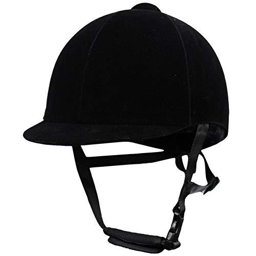 RONSHIN Unisex Equestre Casco Nero Equitazione Traspirante Inverno Equitazione Imbracatura nero...