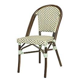 Chaise bistrot TOM en polyrotin